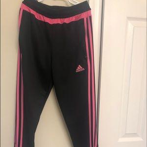 pink and black adidas sweatpants